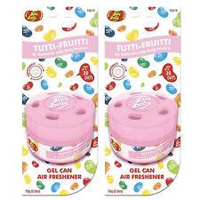 Jelly Belly Gels Cans Car Air Freshner -Tutti Fruitti - 2 Packs