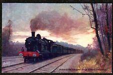 1920 TRAIN TUCKS OILETTE CHEMIN DE FER D,ORLEANS BORDEAUX POSTCARD SERIES 123