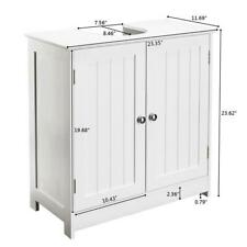Bathroom Vanity Sink Cabinet/Adjustable Under Sink Storage Shelf Furniture White