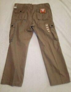 Dockers Men's Bellowed Pocket Cargo Pants Size 36 x 29 Brown 6 Pockets NWT