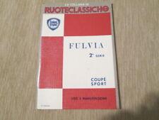 Libretto di uso e manutenz, Lancia Fulvia coupè sport 2°serie 1973 6° ediz. PDF