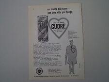 advertising Pubblicità 1960 OLIO CUORE
