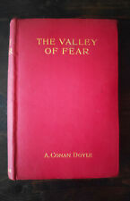 1915 First Edition The Valley of Fear Arthur Conan Doyle Sherlock Holmes