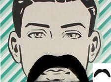 Schnurbart Moustache Schwarz Bärte Schnauzer Karneval Fasching Fake Moustache