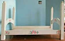 "Vintage homemade white  Wooden  Baby Doll-18"" doll poster  Bed"