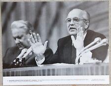RARE 11x14 Photograph USSR Mikhail Gorbachev & Russian President Boris Yeltsin