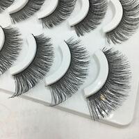 5 Pairs Nautral Handmade Soft Makeup Cross Thick False Eyelashes Eye Lashes