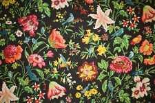 Schumacher Curtain/Upholstery Fabric Design Avondale Floral black 5  metres