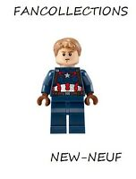 LEGO Minifigure-Captain America - Detailed Suit , sh184 NEUF