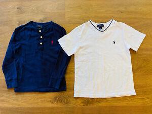 Polo Ralph Lauren Boys Tees blue & White size 8