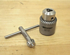 "Accupro Keyed Drill Chuck, 1/4"" Chuck Capacity, 3/8-24 Threaded Mount"
