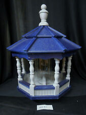 Poly Bird Feeder Amish Gazebo Handcrafted Homemade Gray & Blue Roof Md