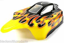 302470 Off Road Nitro RC 1/10 Scale Buggy Body Shell SMT Flame
