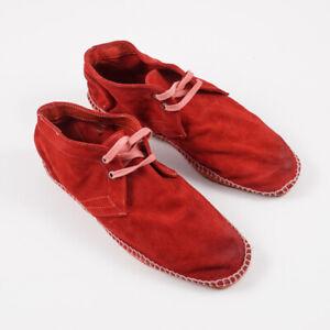 NIB SILVANO SASSETTI Lightweight Washed Suede Espadrilles US 8 (Eu 41) Shoes