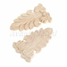 Wood Carved Floral Decal Door Furniture European Unpainted Woodcarving Applique
