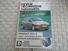 REVUE TECHNIQUE RENAULT CLIO 2 PHASE 1 DIESEL 1.9D et 1.9 dTi depuis 2001