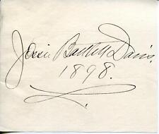 Jessie Bartlett Davis Opera Singer & Actress Signed Page Autograph With Photo