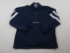 Vtg Nike Mens PENN STATE 1/4 Zip Pullover Jacket Size XL 90s NCAA Football Blue