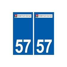 57 Châtel-Saint-Germain logo autocollant plaque stickers ville arrondis