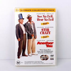 See No Evil, Hear No Evil / Stir Crazy / Another You - DVD - FREE POST