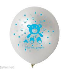 """10 Ballons Naissance Baptême Sérigraphiés """"C'est un Garçon"""""""