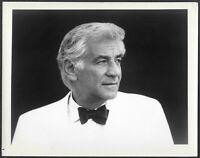 ~ Leonard Bernstein 1970s Original Promo Portrait Photo Conductor-Composer