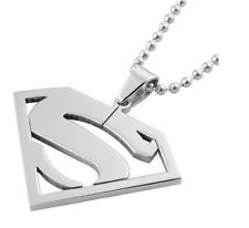 Superman Pendant Stainless Steel Necklaces for Men & Women
