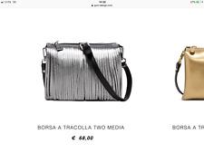 Gianni Chiarini Borsa pochette two GUM nuova con frange antracite argento d8757ea61c7