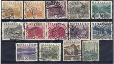 AUSTRIA 1929-30 Landscape definitive set used