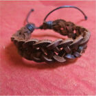 Bracelet en cuir tressé pour homme et femme