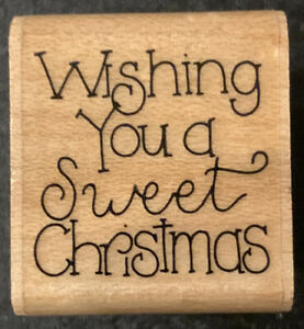 JRL Design Wishing You A Sweet Christmas Rubber Stamp