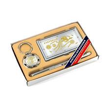 3 Pc Business Gift Box Set Card Holder Pen Keyring Kangaroo Australia Souvenir