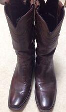 LUCCHESE Classic Whiskey Burnished Buffalo Skin HANDMADECowboy Boots 9D $995 EUC