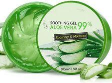 Gel Hydratant Apaisant Naturelle Aloe Vera 300 mL Bio Visage Corps Cheveux Crème