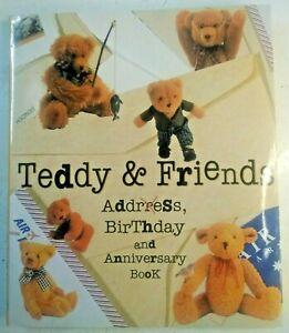 TEDDY & FRIENDS address birthday anniversary book hardcover bears illustrated