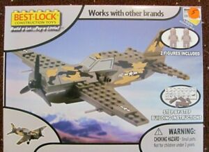Best Lock US WWII Fighter plane  #01234NRFB 120 pc / 2 figures