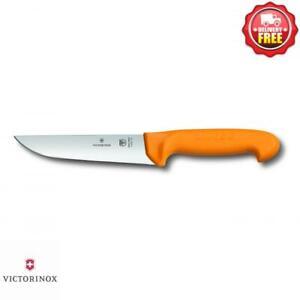 Victorinox Swibo Butchers Knife 16cm Straight Back Blade - Yellow   5.8421.16