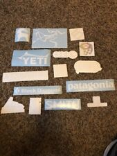 15 All White Stickers! Marmot Yeti Mountain Hardwear Black Diamond Petzl Smith