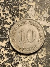 1908-E Germany 10 Pfennig  Lot#Q9312