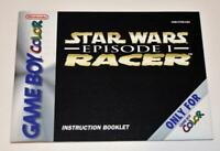 MANUAL ONLY Star Wars Episode 1 Racer Nintendo Gameboy Color Instruction Booklet