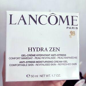 New Lancome Hydra Zen Creme Hydratant Anti-Stress Moisturizing Cream 1.7oz Full