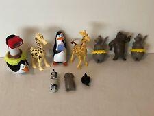Madagascar Lot Set Action Figures Toys Cake Toppers Zebra Giraffe Hippo Penguin