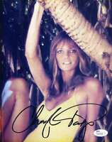 CHERYL TIEGS JSA COA HAND SIGNED 8X10 PHOTO AUTHENTICATED AUTOGRAPH