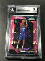 SHAI GILGEOUS ALEXANDER 2018 PANINI PRIZM PINK ICE REFRACTOR ROOKIE RC BGS 9 (E)