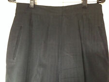 CHIC BLACK PANTS WITH BUTTON DETAILING AT ANKLES MISSES SIZE 10 EUC!