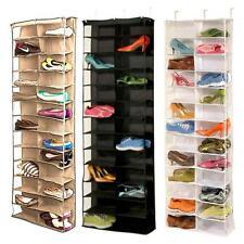 Zapato Organizador Rack 26 bolsillos ahorro de espacio de almacenamiento Colgante Sobre La Puerta Perchas