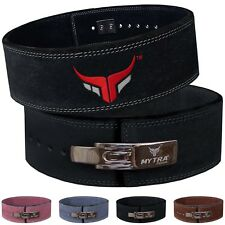 """Mytra Fusion Weight Lifting Belt Powerlifting Back Support thick 10mm 4"""" Wider"""