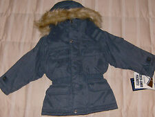 Big Chill NWT Navy Blue 4 in 1 jacket system, snap-on hood, 2T boy