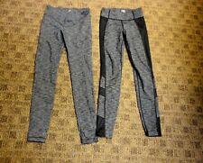 ATHLETA GIRL Lot Of 2 Gray Solid Nylon Blend Girl's Leggings Size M/8-10 HH4230