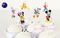 24P Minnie Mickey Mouse Party Cupcake Cakes Decorating Toppers Picks Flags Set